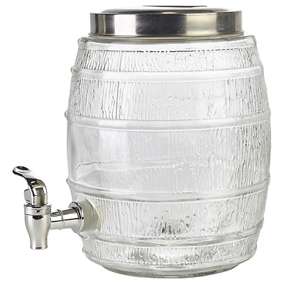 5ltr Glass Punch Barrel/Cocktails/Juices/Parties/Bar