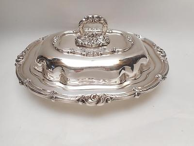 ONEIDA Community Silverplate Melon pattern Covered  ENTREE / Vegetable DISH bowl