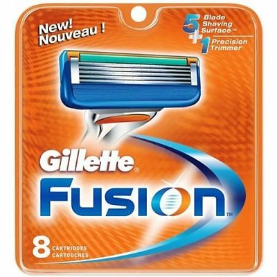 GILLETTE FUSION BLADES 8 Pack - (100% GENUINE UK) - *Free Postage*