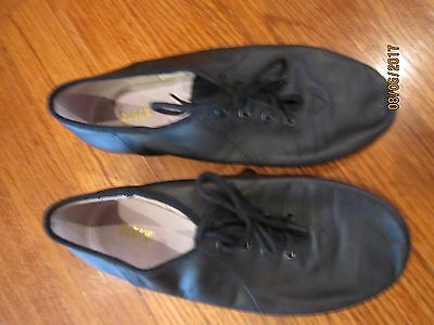 EUC Bloch Split Sole Leather Jazz Shoes size 5-BLACK-Clean and Gently Used