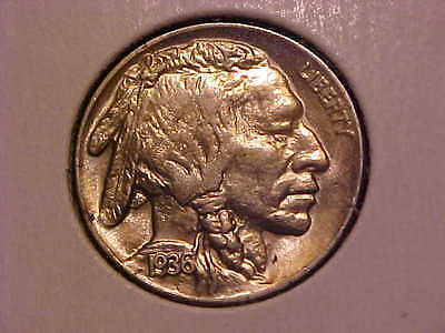 1936-P Buffalo Nickel  - Very Nice Gem Bu! - Great Type Coin!- G72Dxxx