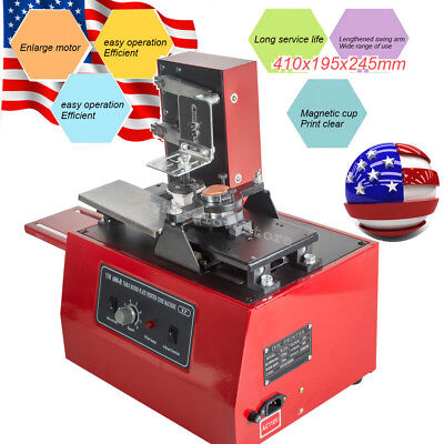 11 in1 10V Electric Pad Printer Printing Machine for cup can High Speed usa ship