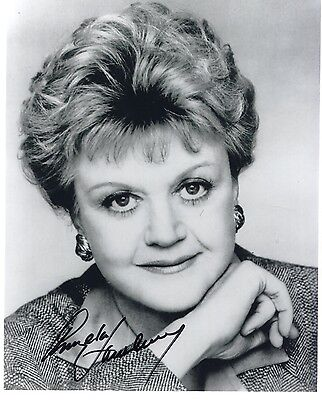 ANGELA LANSBURY autographed 8x10 photo      GREAT ACTRESS FROM MURDER SHE WROTE
