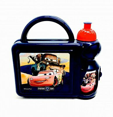 Disney Cars 2 piece hard case lunch box with bottle