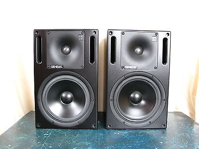 Genelec 1031A ( 1 Pair ) Bi-Amplified Monitoring System Speakers In Excellent