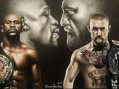 Conor McGregor vs Floyd Mayweather ORIGINAL ONE OF A KIND DRAWING