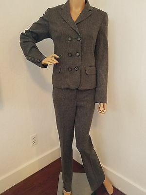 A PEA IN THE POD Maternity stretch tweed 2pc suit blazer jacket pants S/M