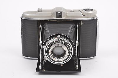 EXC++ AGFA ISOLETTE w/APOTAR 8.5cm F4.5 LENS, WORKS!, CLEAN, TESTED