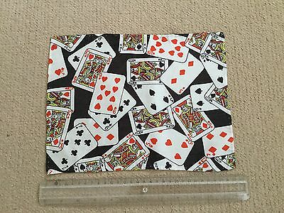 Vintage Retro novelty deck of cards Handkerchief Hand made/stitched