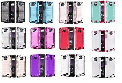 For ZTE Majesty Pro Z799VL / Z798BL Brushed Hybrid Phone Cover Case