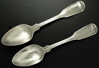 Pair Charleston SC Pre-Civil War Gale & Hayden American Coin Silver Teaspoons