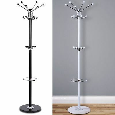 16 Hook 172Cm Coat Stand Hat Jacket Holder Clothes Hanger Umbrella Rack