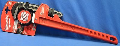 NEW Milwaukee 48-22-7118 18'' Steel Pipe Wrench With Large Over Bite Jaw