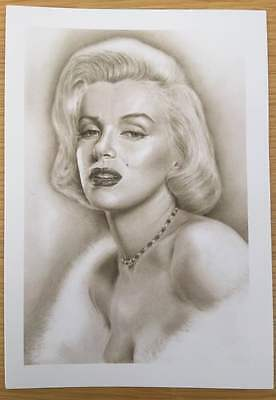 Marilyn Monroe A5 Size Printed Greeting Card Drawn by Artist Peter Panayis