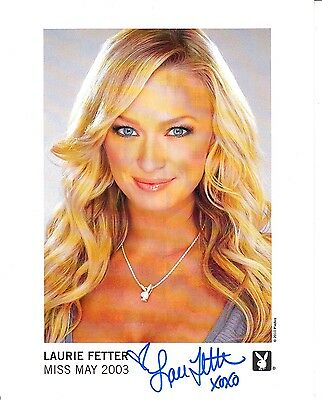 May 2003 Playboy Playmate Laurie Fetter Autographed 8x10 Playboy Promo!