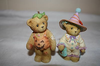 Cherished Teddies Lot of 2 Halloween Bears, Cora and Adelaide