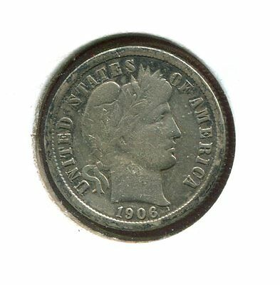 1906 P Barber/Liberty Head 90% Silver Dime  (Combined Shipping $2.95)