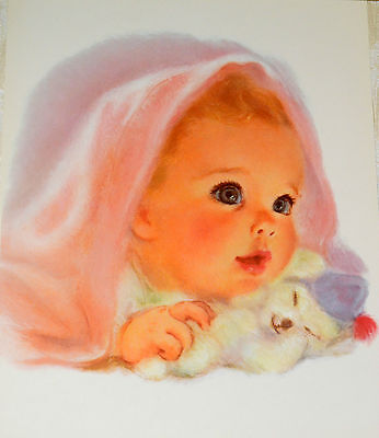 Vintage Baby with Puppy Frances Hook Northern Tissue Advertising