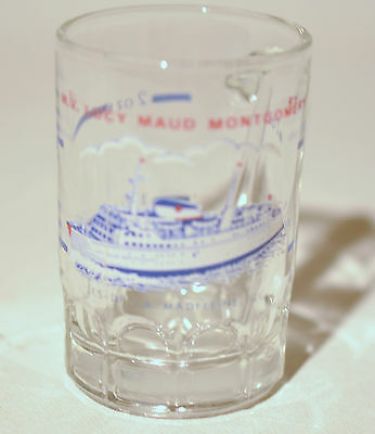 Canadian Ferry L.M Lucy Maud Montgomery Souvenir Collectible Shooter Shot Glass