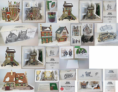 Dept 56 Dickens Village Collection #5, Set Of 5 Buildings & 5 Accessories