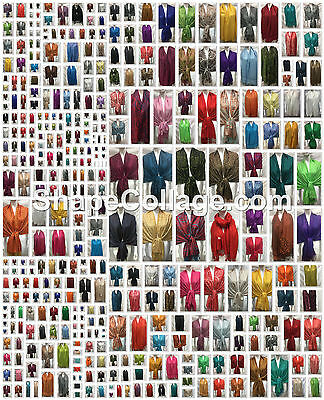 Wholesale 120Pcs $2.75 Each 7 Designs Reversible Pashmina Cashmere Scarf Wrap