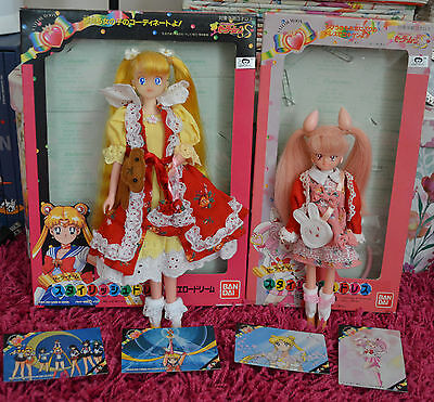 Sailor Moon S Chibimoon Usagi and Chibiusa Doll with dress outfit clothes