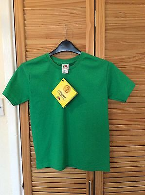Kids Green ; Fruit Of The Loom T-Shirt , 9-11 Years