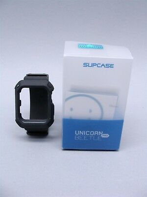 NEW Supcase Unicorn Beetle Pro 42mm Apple Watch Rugged Protective Case/Strap BLK