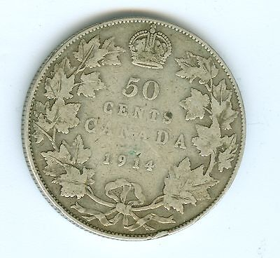 Canada 1914 Fifty Cents--Circulated