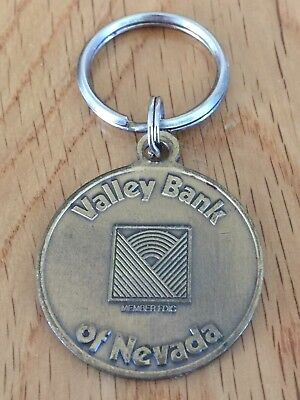 Valley Bank Of Nevada Key Charm And Ring Vintage