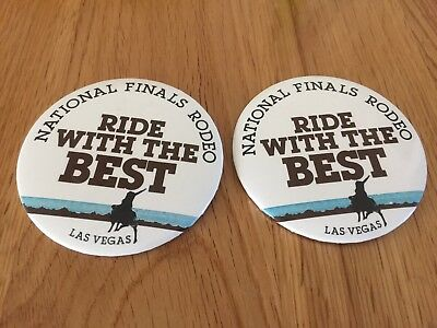 "National Finals Rodeo Las Vegas ""Ride With The Best"" Buttons"