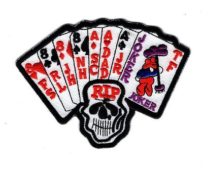 Harley Marlboro Man Movie Ace/Joker Dead Man's Hand Iron on Patch BY MILTACUSA