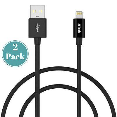 Premium 2-Pack New Apple iPhone X/8/7/6 Lightning USB Data Cable Charger-3ft Blk