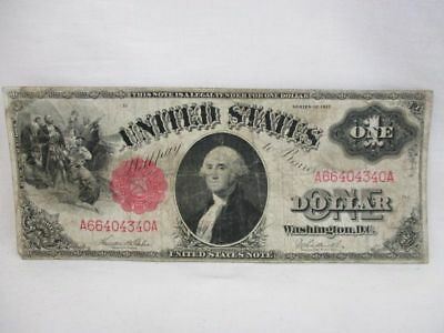 1917 U.S. One Dollar Red Seal Large Sized Note / Bill