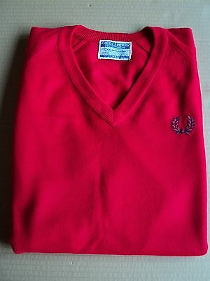 Genuine Vintage Fred Perry Courtelle Jumper..60's 70's ..mod..skin..casual.rare