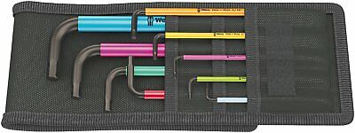 Wera 05022639001 950 SPKL/9 SZ Multicolour L-key Set, Imperial, BlackLaser