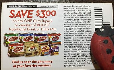Ten $3.00 off any Boost product coupons