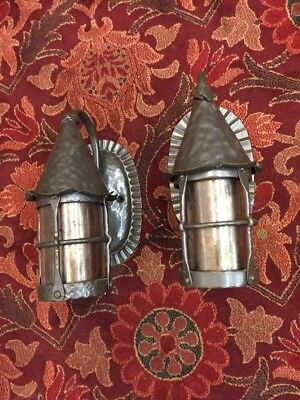 Reproduction Arts and Crafts Spanish Tudor Revival Style Wall Sconces With Micah