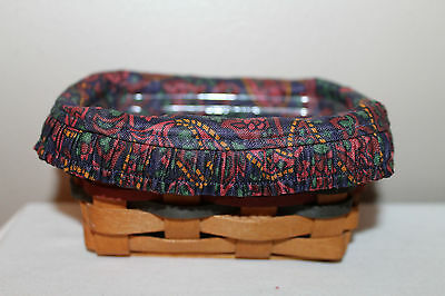 1994 Longaberger Father's Day Business Card Basket,  Protector, Fabric