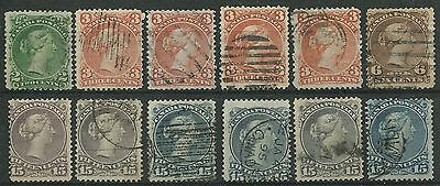 Canada #24, 25, 27, 29, 30 Used Large Queen Lot
