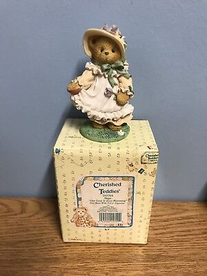 """Cherished Teddies 103764 Hope """"our Love Is Ever Blooming"""""""