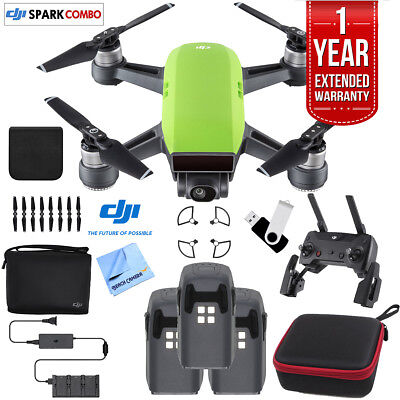 DJI SPARK Fly More Drone Combo Meadow Green - CP.PT.000903 Triple Battery Bundle