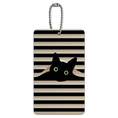 2ee180826a34 BLACK CAT IN Window Luggage ID Tags Suitcase Carry-On Cards - Set of ...