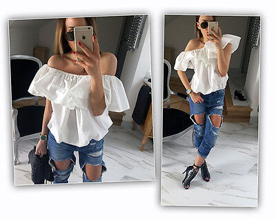 New Fashion Women Sexy Off Shoulder Casual Blouse Summer Tops Beach T Shirt S
