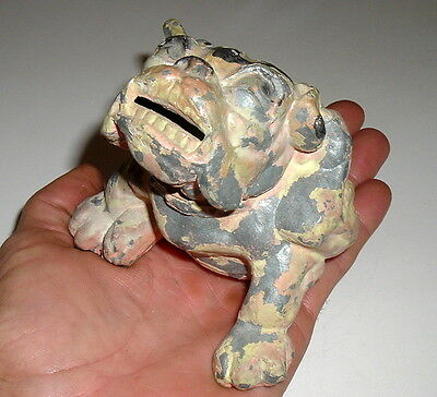 Antique Bulldog Bank Rare Pot Metal  / Bobbys Bulldog Bank