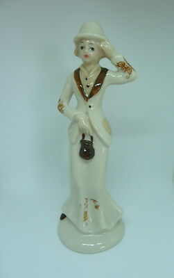 1930s Lady Figurine Ceramic - fill with perfumed flakes for bedroom