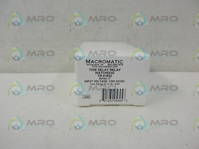 Macromatic Tr-61822 Time Delay Relay *new In Box*