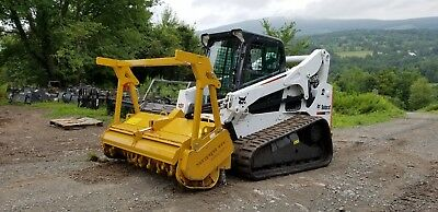 2015 Bobcat T870 Track Skid Steer Fully Loaded New Seppi Forestry Mulcher In Pa!