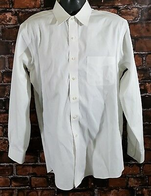 Brooks Brothers Classic Non Iron Mens White L/S Button Front Dress Shirt (16-35)