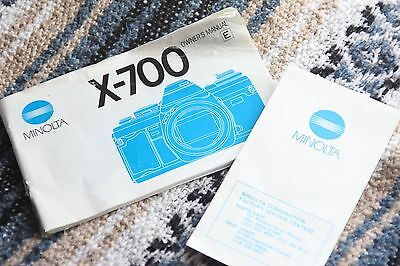 Minolta X-700 Manual Instruction Book Used Booklet + Accessory Booklets Bundle